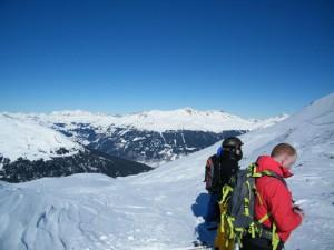 Kurz vor der Abfahrt nach Davos Laret